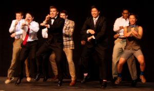 "Seniors in the Mr. '013 competition dance to ""Gangnam Style"" Thursday, Jan. 24."