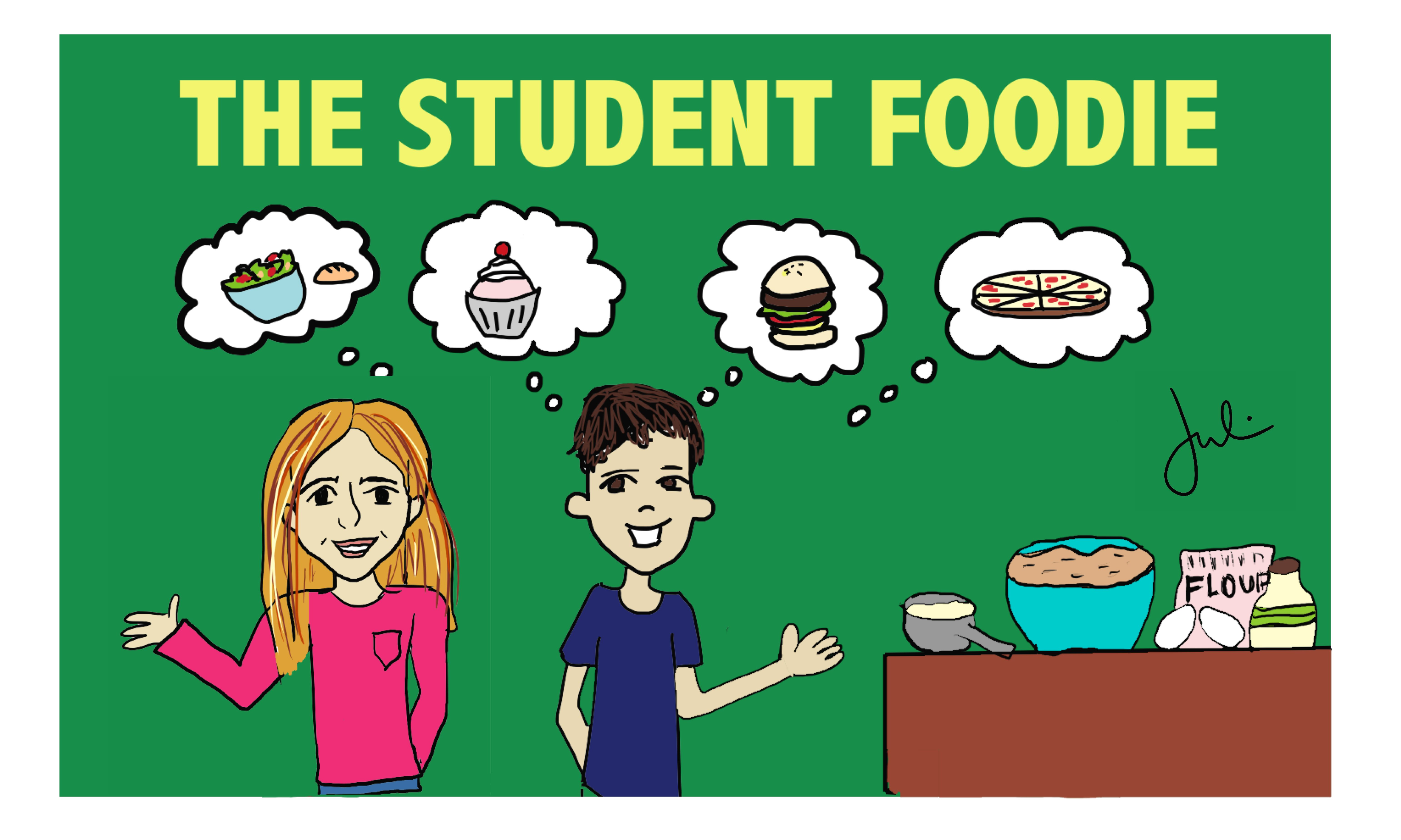 The Student Foodie: This blog follows seasonal trends in culinary arts and offers fun and creative recipes that are easy for anybody to make. Check out more blog posts at theNewtonite.com. Graphic made by Julia Moss.