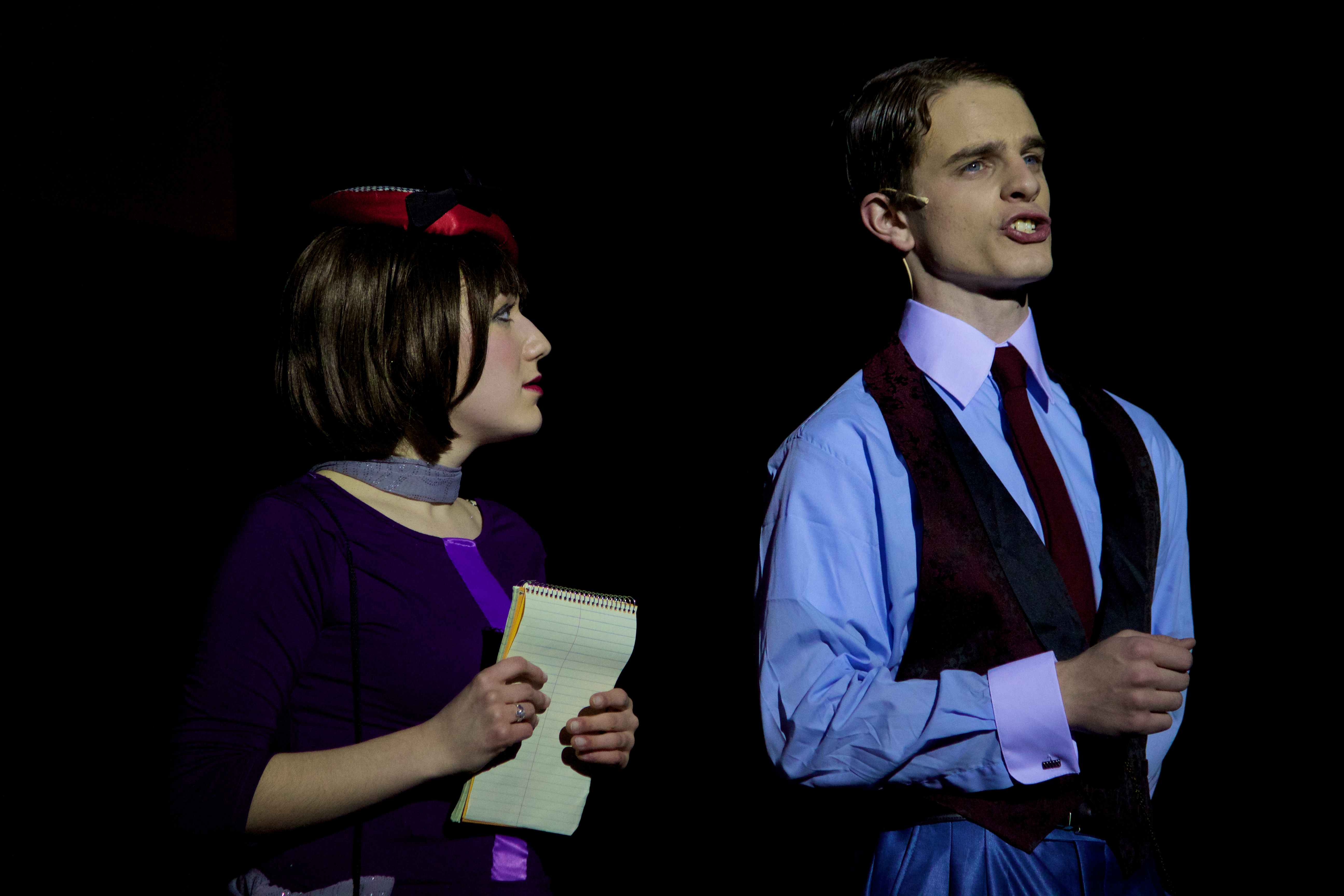 Thoroughly Modern Millie- Seniors Maddy Waters and Will Champion