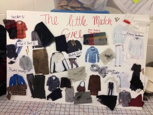 Senior Simon Wolfe and sophomore Nadav Konforty created the above image board in the Intro to Costume Design class.