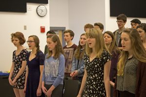 Family Singers Rehearsing for POPS Night