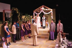 "The cast of ""Much Ado About Nothing"" gave the show an unusual twist by putting it in modern times."