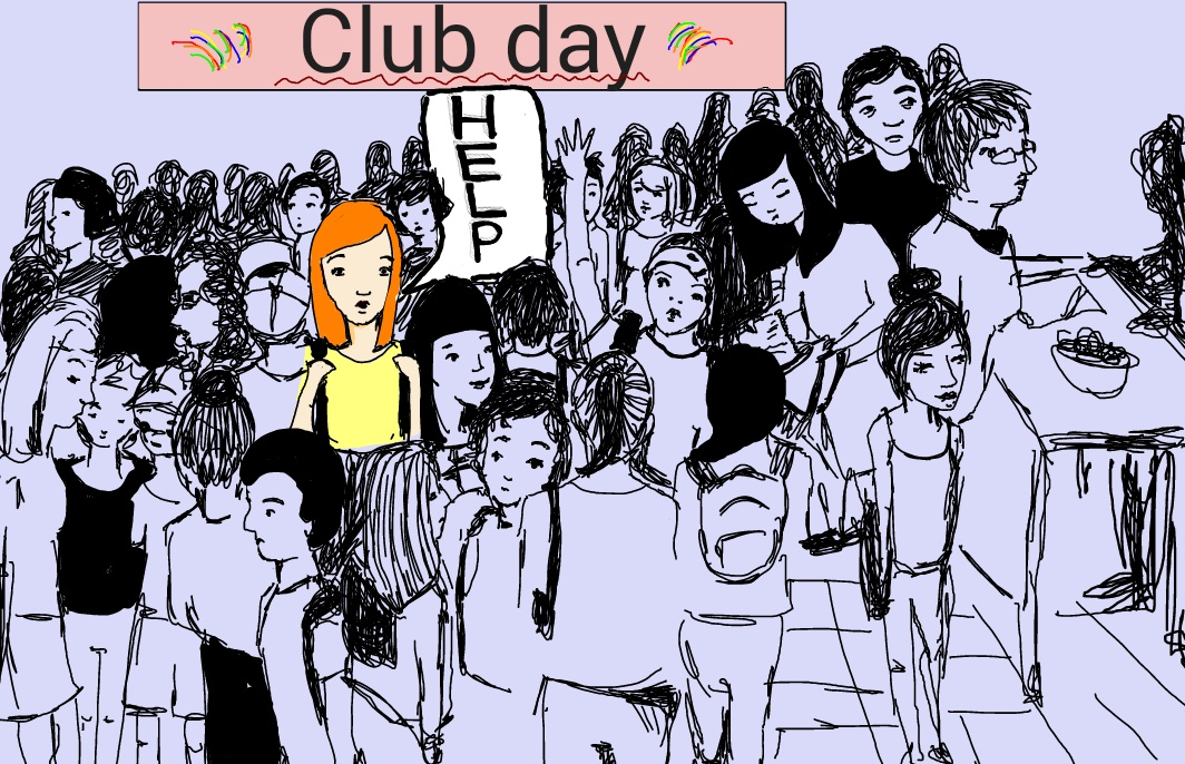 Club day can be frantic, but hopefully you'll be able to find what you're looking for! Graphic by Maria Melissa and Mary Solovyeva.
