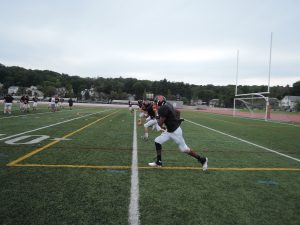 Team members practice in the preseason. Photo by Leah Budson