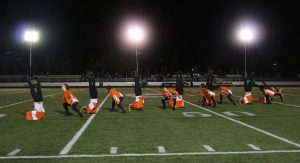 "Dance performs under the ""Friday Night Lights"" last week. Photo by Robin Donohoe."