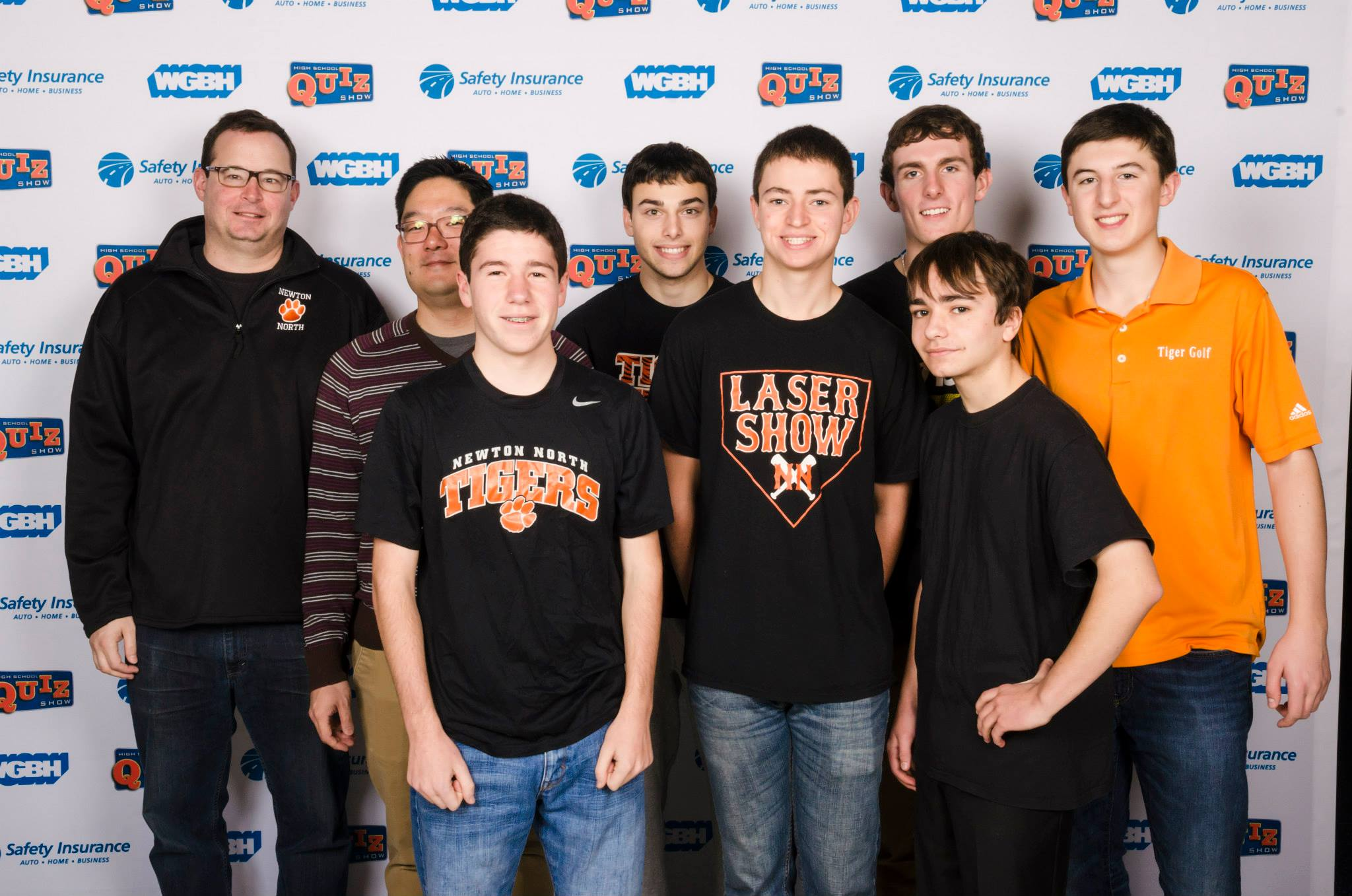 This year's High School Quiz Show team on the set of WGBH. Photo courtesy WGBH.