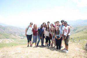 Sophomore Elinor Graham in Armenia this past summer