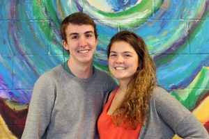 Seniors Nick and Kat Hansell are fraternal twins. Photo by Robin Donohoe.