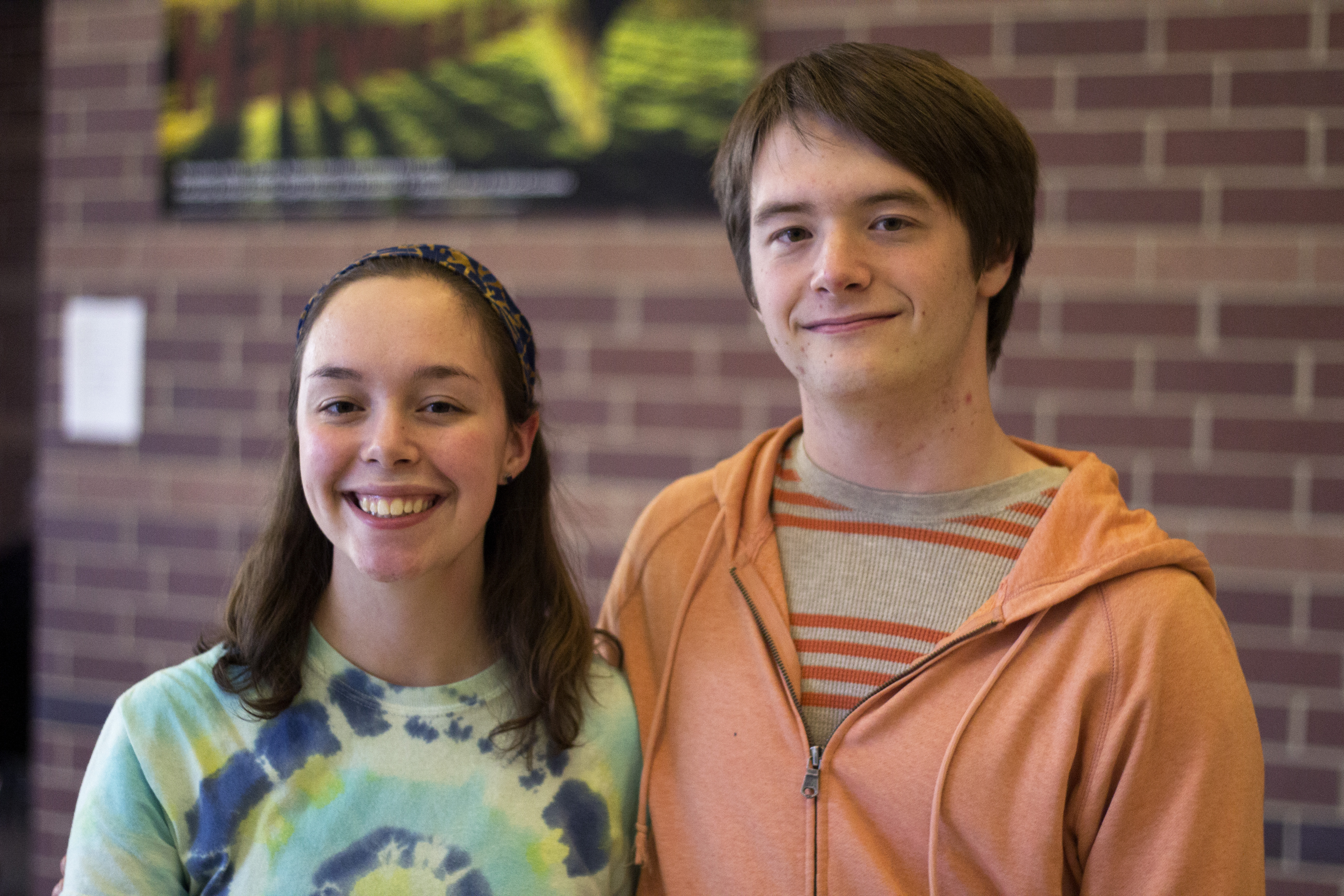 Seniors Claire and Henry McEwen. Photo by Josh Shub-Seltzer.
