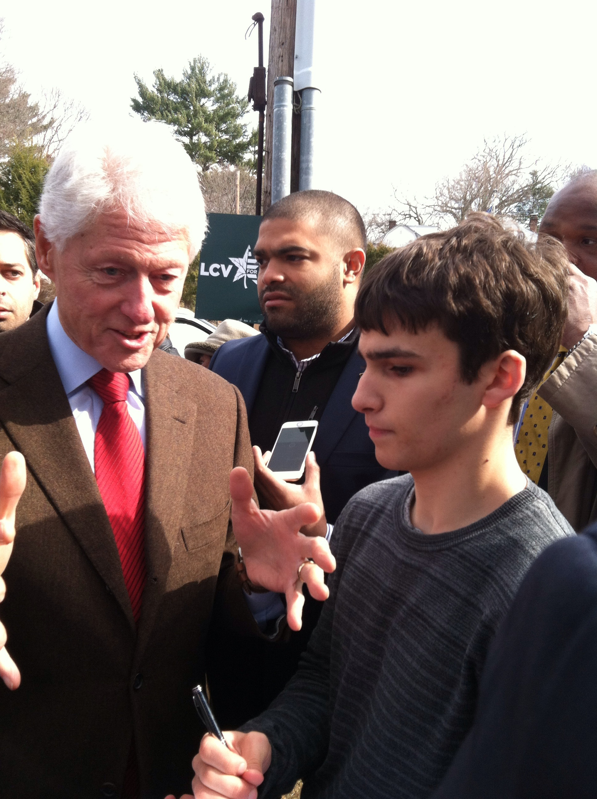 Bill Clinton at Newton Free Library
