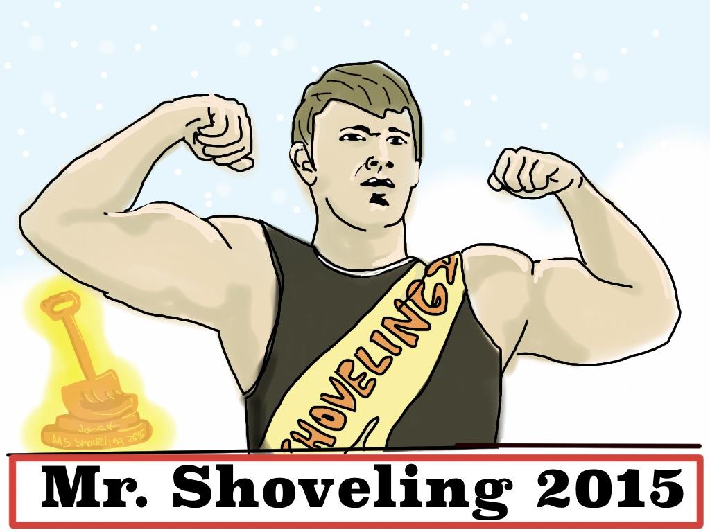 cartoon mr shoveling the newtonite